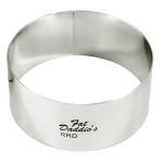 "Fat Daddio's Rings round stainless steel 3"" x 4"""