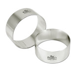 "Fat Daddio's Rings round stainless steel 10"" x 3"""
