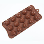 "Fat Daddio's Silicone Chocolate Mold, 9.13"" x 4.18"", Wrapped Mound, 1"" dia. X .83"" high, 15 pcs per mold"