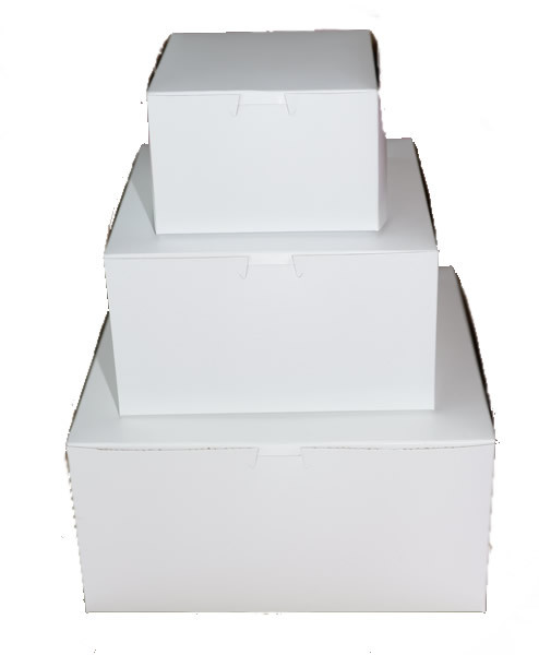 Ultimate Baker White Cake Box 6 X 6 X 4 (50 Pack)