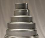 Ultimate Baker Round Cake Pan Set 5 Tier 6, 8, 10, 12, 14 X 3 (5 Piece Set)