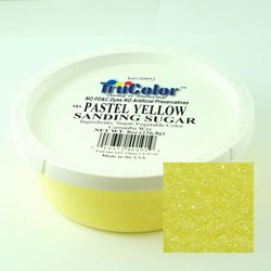 TruColor Confectioner's Sanding Sugar (Fine Crystals) Pastel Yellow (12x 8oz)