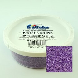 TruColor Confectioners AA Sanding Sugar (Large Crystals) Purple Shine  (12x8oz)