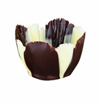 ifiGOURMET Iris Tulip, Dark and White Chocolate Shell (192 EA)