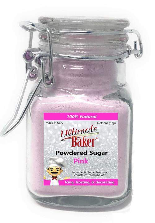 Ultimate Baker Natural Powdered Sugar Pink (1x2oz Glass)