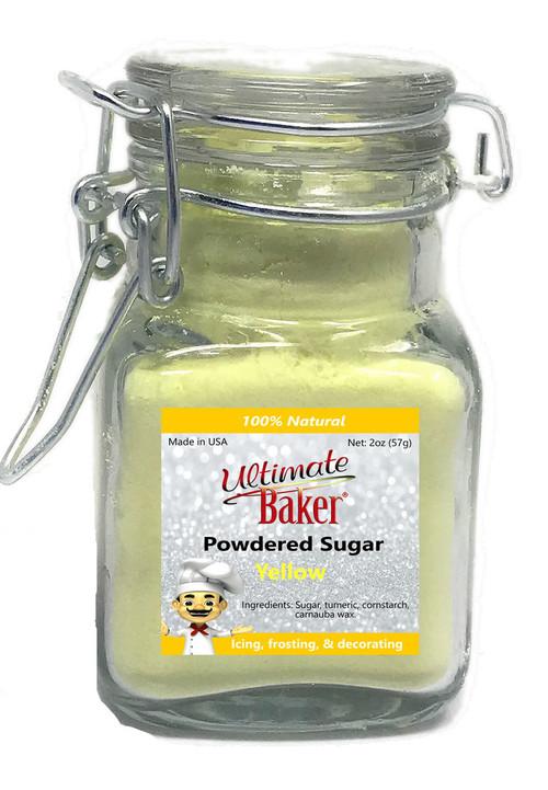 Ultimate Baker Natural Powdered Sugar Yellow (1x2oz Glass)