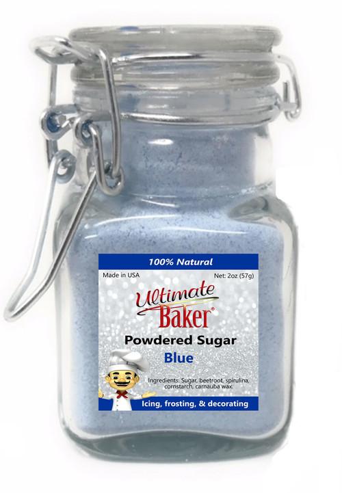 Ultimate Baker Natural Powdered Sugar Blue (1x2oz Glass)