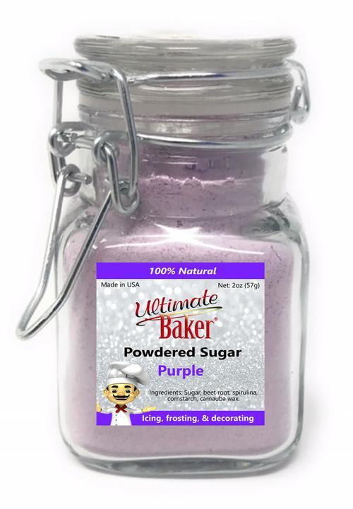 Ultimate Baker Natural Powdered SugarPurple(1x2oz Glass)