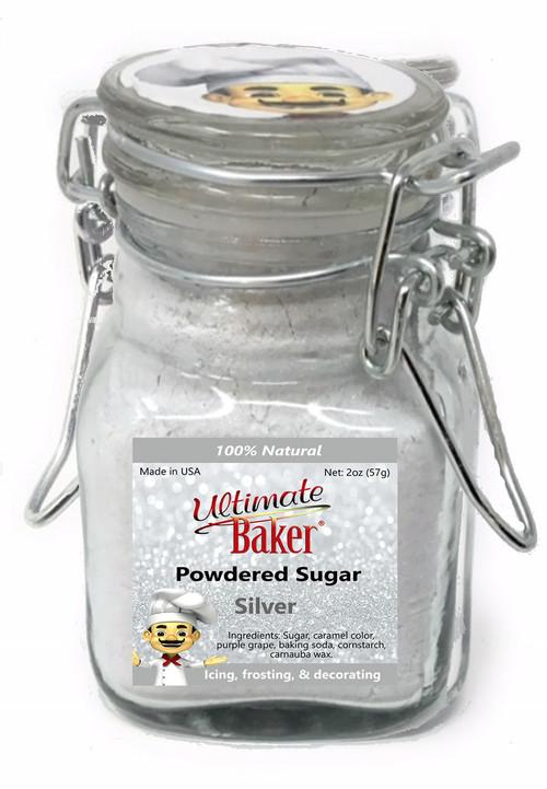 Ultimate Baker Natural Powdered Sugar Silver (1x2oz Glass)
