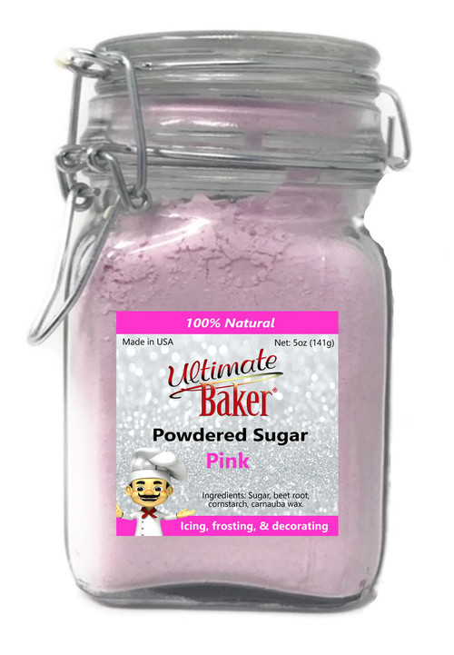 Ultimate Baker Natural Powdered Sugar Pink (1x5oz Glass)