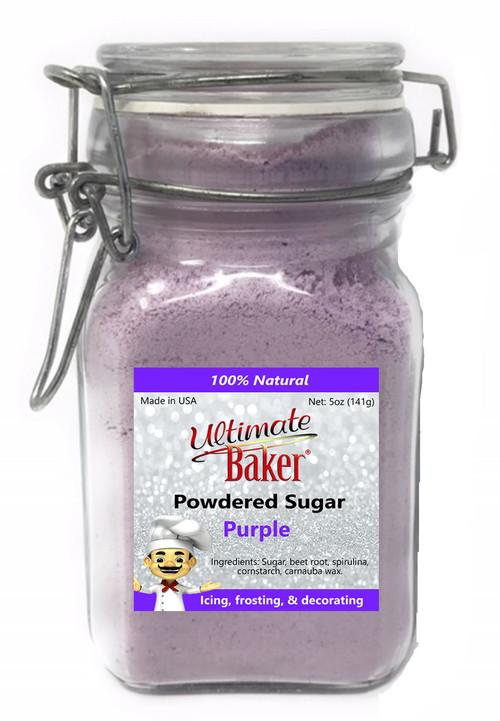 Ultimate Baker Natural Powdered SugarPurple(1x5oz Glass)