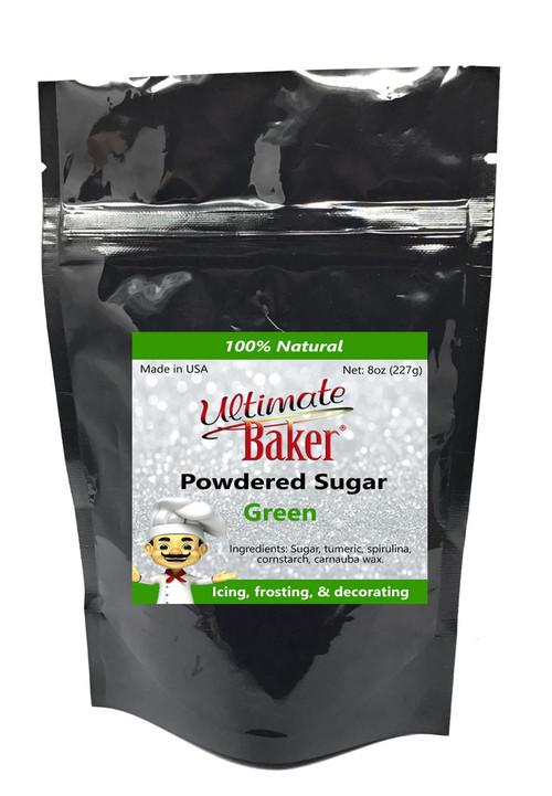 Ultimate Baker Natural Powdered Sugar Green (1x8oz Bag)