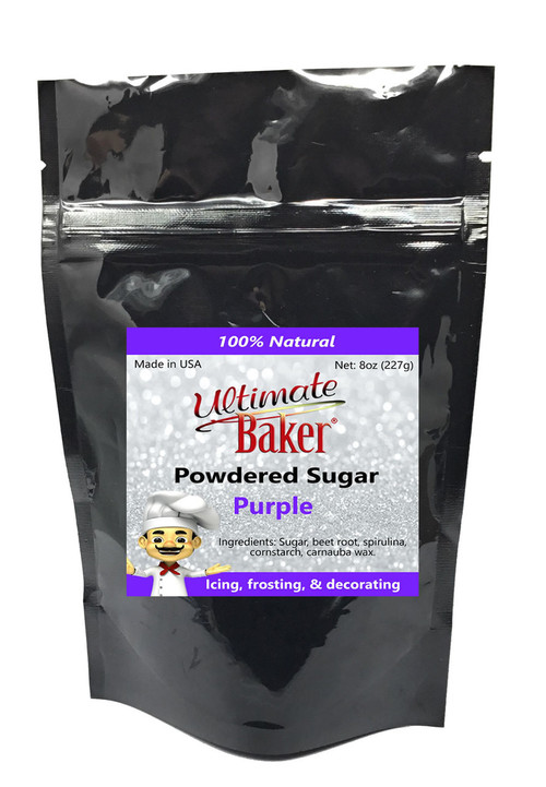Ultimate Baker Natural Powdered SugarPurple(1x8oz Bag)