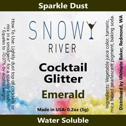 Snowy River Cocktail Glitter Emerald (1x5.0g)