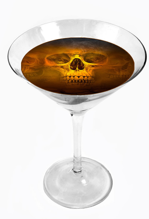 Snowy River Cocktail Toppers Skull (1x6Pack)