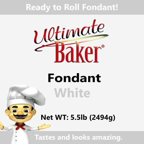 Ultimate Baker White Fondant (1x5.5lbs)