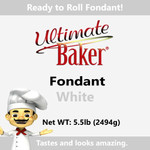 Ultimate Baker White Fondant (1x5.5lbs)