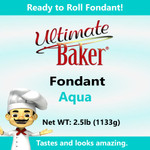 Ultimate Baker Aqua Fondant (1x2.5lbs)
