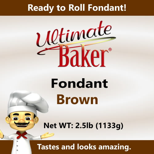 Ultimate Baker Orange Fondant (1x2.5lbs)
