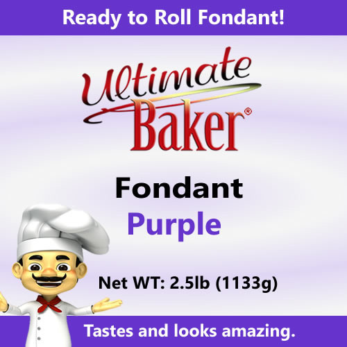 Ultimate Baker Purple Fondant (1x2.5lbs)