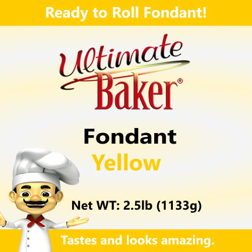 Ultimate Baker Yellow Fondant (1x2.5lbs)