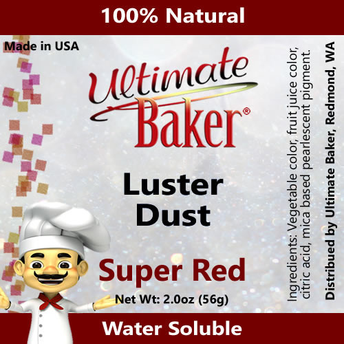 Ultimate Baker Luster Dust Super Red (1x56g)