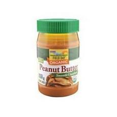 Field Day Organic Easy Spread Peanut Butter, Smooth, No Salt (12x18Oz)