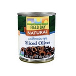 Field Day California Ripe Sliced Black Olives (12x3.8Oz)