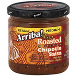 Arriba! Medium Fire Roasted Mexican Chipotle Salsa (6x16Oz)