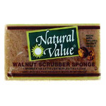 Natural Value Scrub Sponge Walnt Shl (24x1Each)