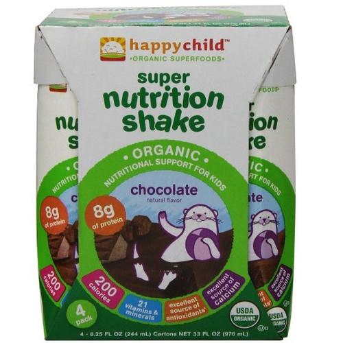 Happy Child Super Nutrition Shake Chocolate (4x4x8.25 OZ)