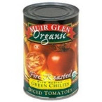 Muir Glen Diced Garlic Fire Roasted Tomato (12x14.5 Oz)
