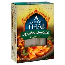 A Taste Of Thai Wide Rice Noodles (6x16Oz)