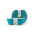 Preserve Small Square Food Storage Container Aqua (2 Pack)