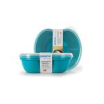 Preserve Small Square Food Storage Container Aqua (2 Pack)