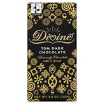 Divine Chocolate 70% Cocoa Dark Chocolate Bar (10x3.5Oz)