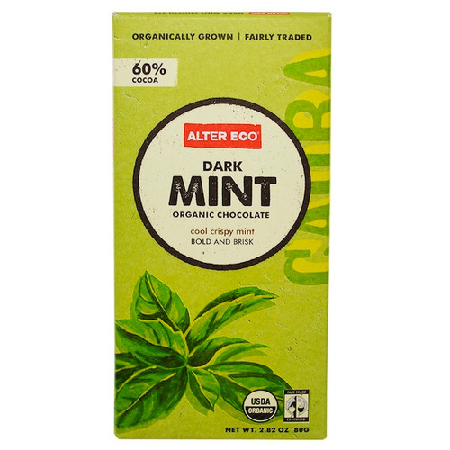 Alter Eco Chocolate Dark Mint (12x2.82OZ )