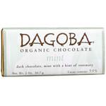 Dagoba Chocolate Mint Dark Chocolate Bar 59% (12x2 Oz)