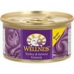 Wellness Canned Turkey Salmon Cat Food (24x5.5 Oz)