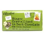 Chocolove Dark Chocolate Bar Crystallized Ginger (12x3.2 Oz)