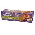 Milton's Gourmet Round Crackers Roasted Garlic & Herb (12x8.3 Oz)