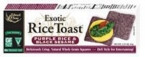 Edward & Sons Black Sesame Brown Rice Toast (12x2.25 Oz)