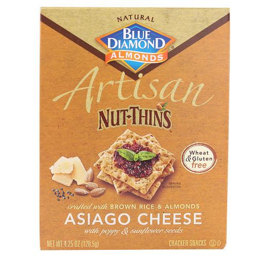Blue Diamond Asiago Cheese & Seed  Crackers(12x4.25OZ)