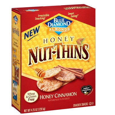 Blue Diamond Honey Cinnamon Nut Thins (12x4.25 OZ)