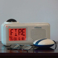 Bedside Vibrating Fire Alarm and Clock
