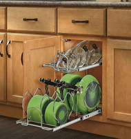 Rev-A-Shelf 12 in. Pull-Out 2-Tier Base Cabinet Cookware Organizer