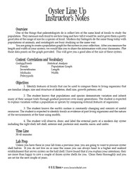 Oyster Line Up PDF