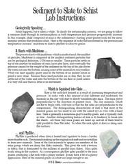 Sediment to Slate to Schist PDF