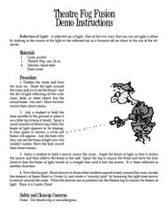 Theatre Fog Fusion PDF