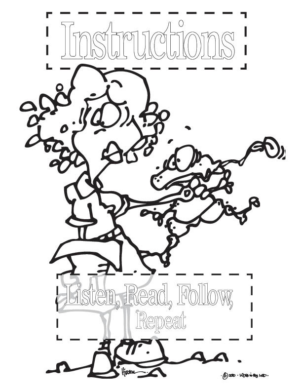 Science Safety Posters for Coloring PDF